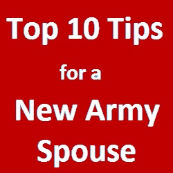 Tips for New Army Spouse