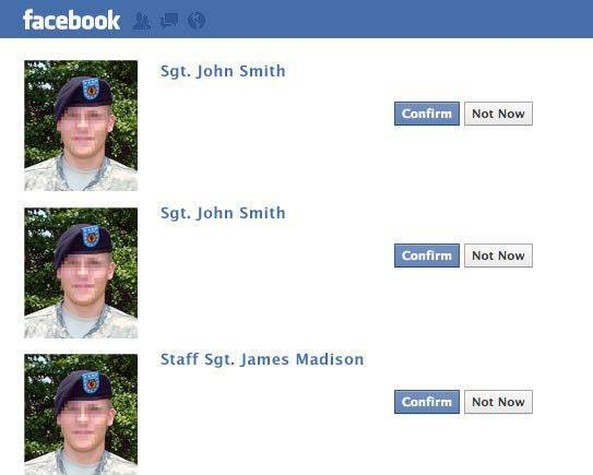 Online dating scams involving military