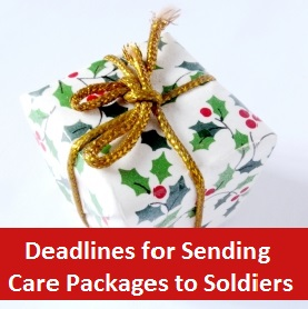 Christmas Care Packages for Soldiers