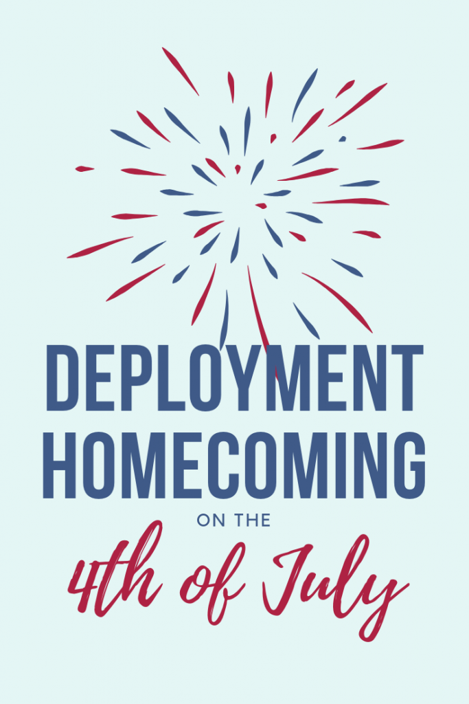 deployment homecoming on the 4th of July pin