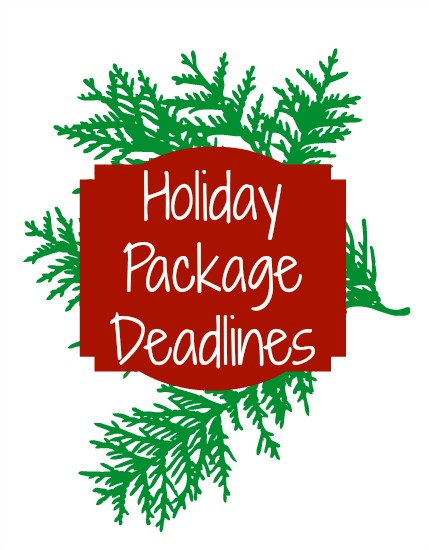 deadlines for holiday care packages to soldiers