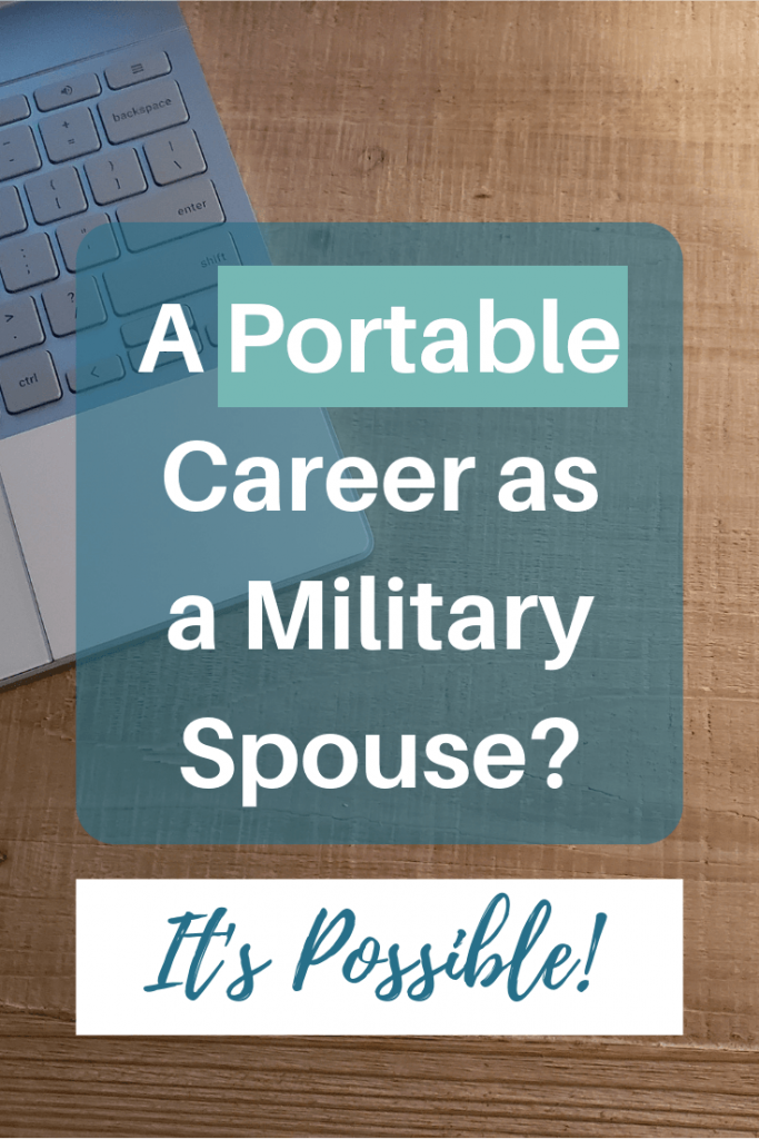 Portable career as a military spouse