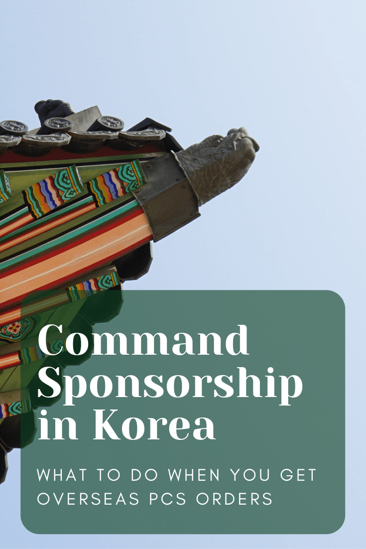 Command Sponsorship in Korea with the Army